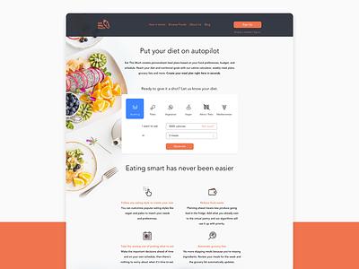 Landing Page planner diet eat marketing website page landing