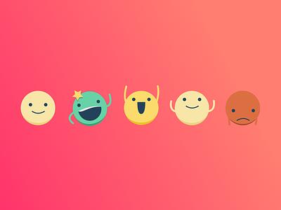 Little Weirdos illustration character smilie happy weirdos emojis emoji