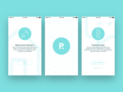 Rubin Onboarding branding onboarding house iphone mobile app estate real
