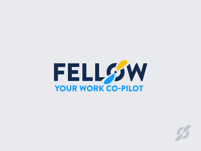Fellow Logo prop rutter work copilot fellow flight wings pilot branding logo