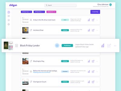 Shogun Pages ecommerce commerce app grid page builder pages website shopify shogun