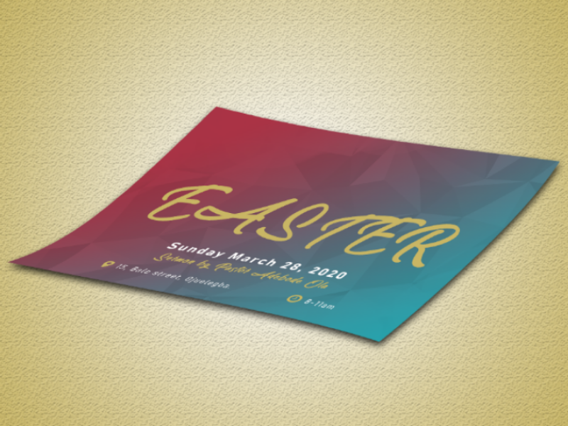 Easter Flier photoshop design illustrator