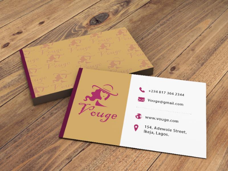 Fashion business card illustrator card design