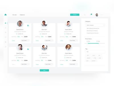 Website for freelancers ux minimal website flat icon web ui design