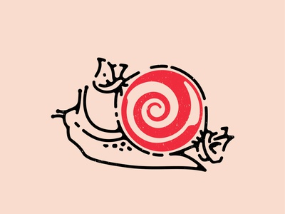 Candy Snail snail candy abstract icon digital art logo double meaning wit flat vector design minimal illustration