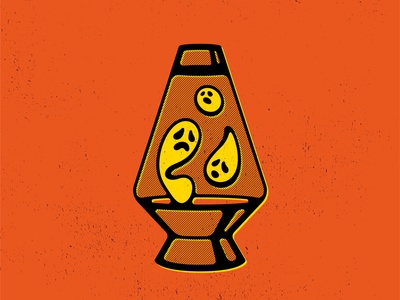 Spooky Lava Lamp vectober lavalamp lamp ghost holiday halloween screenprint double meaning wit flat vector design minimal illustration