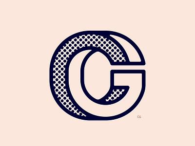 CG Monogram branding identity lineart icon monogram logo flat vector design minimal illustration