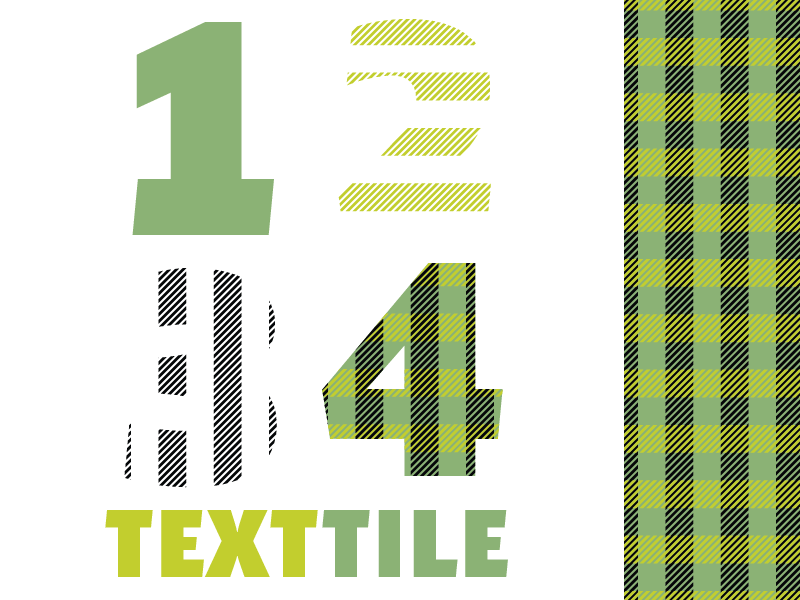 TextTile typography type design chromatic font plaid display
