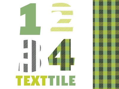 TextTile typography type design chromatic font plaid display