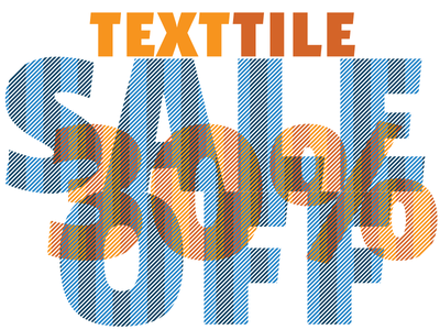 Texttile typography type design patterns hatches font