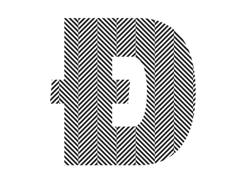 TextTile Herringbone typography type design patterns hatches font