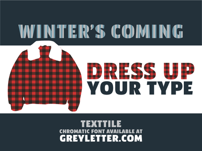 TextTile Winter Sale typography type design patterns hatches font plaid chromatic