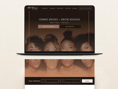 Brow Wifey Website Design, Wordpress - By Mrs. Nicole Martinez