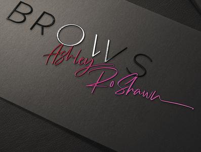 Brows Ashley Roshawn  Logo - Made By Nicole Martinez