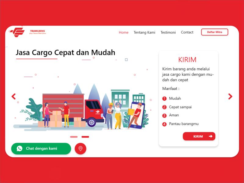 Delivery Service Landing Page car delivery service delivery web design website web branding ux ui minimal illustration design