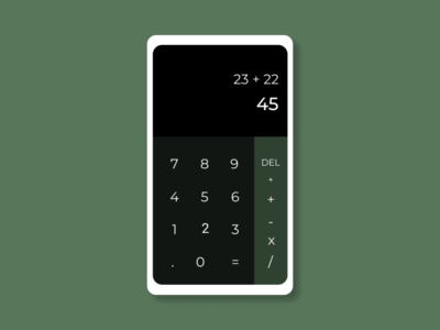 Calculator simple calculator ux ui minimal design