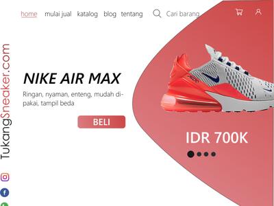 Homepage SneakerShop Sell vector minimal illustrator flat design ui branding ux web illustration
