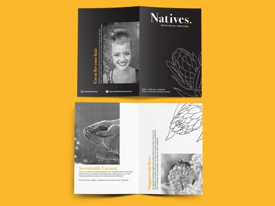 Natives Haircare Brochure