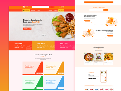 Food Shearing Idea home page react app web ux ui fastfood restaurant food share food service