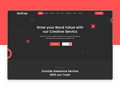 Portfolio Landing page redesign typography react sass branding design blog landingpage web portfolio site ux ui