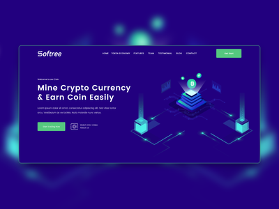 Crypto Currency  Landing page redesign. vector blog design web ui ux crypto exchange crypto wallet cryptocurrency