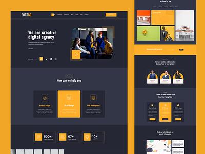 Agency Portfolio Homepage Design typography branding free blog web design ui ux app portfolio agency