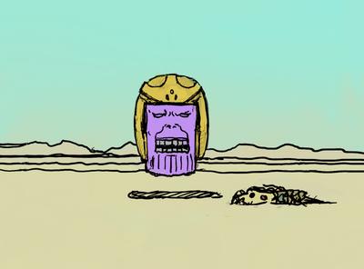Thanos comic art comicart comics comic marvel infinity painting gallery tekening drawing illustration arting kunstwerk artwork avengers thanos