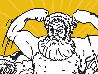 Poseidon kreator farben kunst kunstwerk tekening rajz arting dibujodigital dibujo original pintura illustratrice illustree gallery artwork drawing painting illustrator illustration graphic