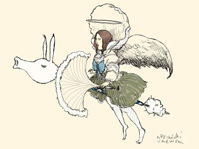 flygirl kunst kunstwerk tekening rajz arting dibujodigital dibujo original pintura illustratrice illustree gallery artwork drawing painting illustrator illustration graphic