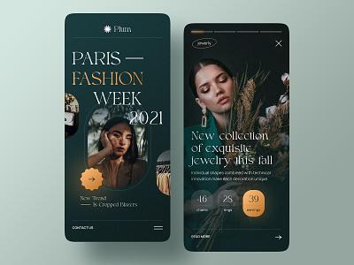 Mobile Fashion Blog mobile app ux ui beauty style clothes fashion product design product mobile design app mobile