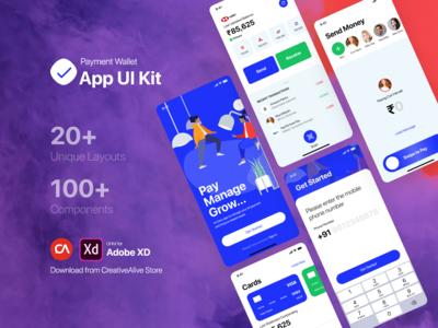 Payment Wallet App UI Kit - Sample Free