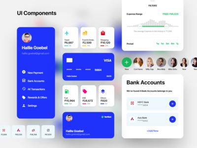 Finance App Components components ui kit wallet app payment app finance app