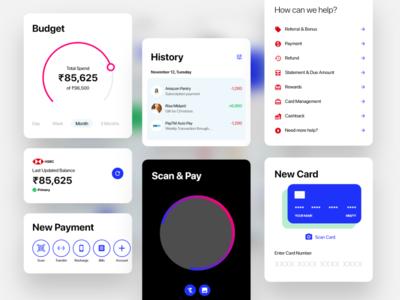 Payment Dashboard App UI Components ui design components