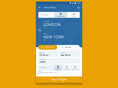 Flights Search UI
