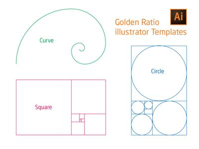 Golden Ratio illustrator Template AI+SVG