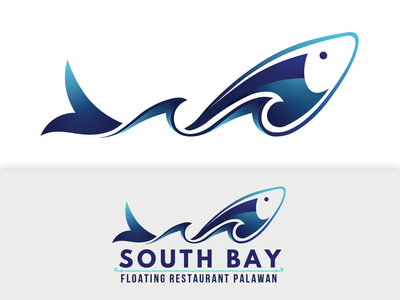 Fish and Wave Logo