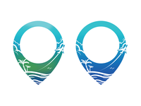 Location Pin Travel Logo