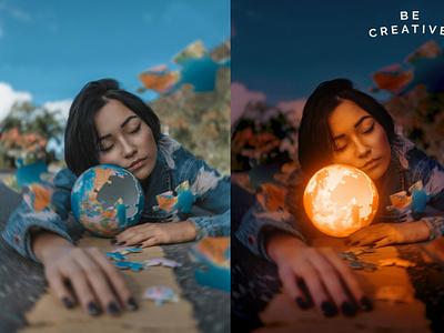 Glowing Object illustration photoshop design