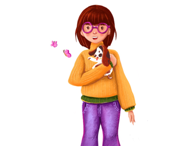 Character design - 1 illustrations cute dog character design procreate