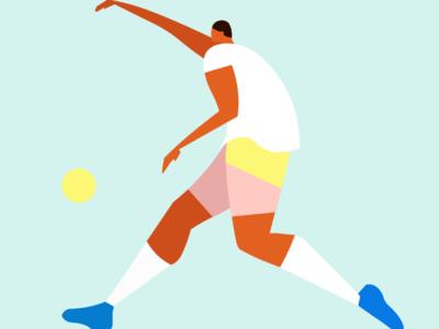 Flat design sport design illustration minimal