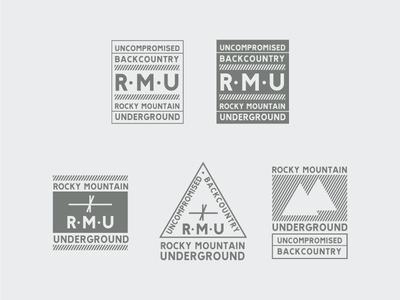 RMU Badges  backcountry outdoor skis tags brand logo badges