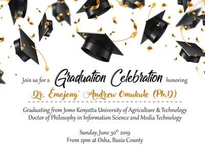 Simple graduation invite 2