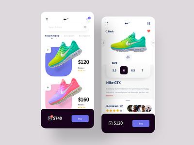 Nike Sneakers App mobie app design shoe design uidesign nike sneakers nike ecommerce design ecommerce app android app ios app design app design ui design ui  ux