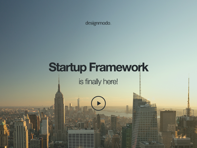 Hello Startup Framework startup framework ui ux project site components ui kit css html video