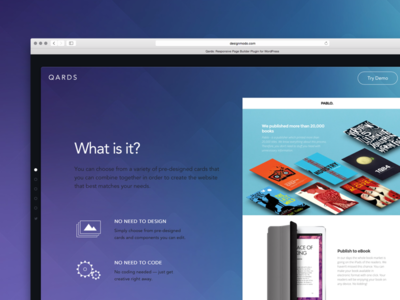 Qards! ui ux qards tool framework wordpress design landing presentation css3