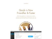 Qards: Upcoming Update. TypeKit, SEO, Optimization
