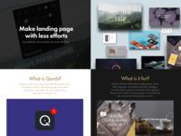 Make Landing Page with WordPress and Qards