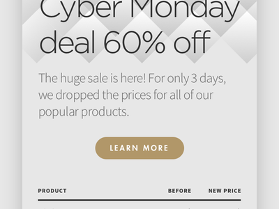 Email Black Friday & Cyber Monday newsletter cyber monday black friday email