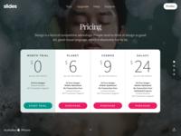 Slides Framework: Pricing Table