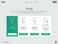 Slides: Pricing Table White
